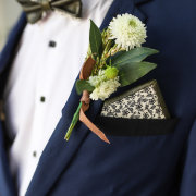 boutonniere, grooms accessories - WEEF