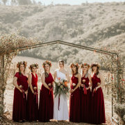 bride and bridesmaids - Highberry Boutique Winery