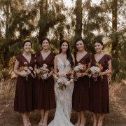 bride and bridesmaids - Olive Rock Wedding Venue