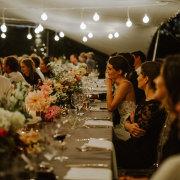 floral centrepieces - Olive Rock Wedding Venue