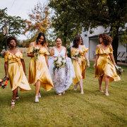 bride and bridesmaids, bridesmaids dresses, bridesmaids dresses - Au d' Hex Estate - Venue | Boutique Manor House | Restaurant