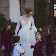 bride and flower girls - Chantelle Bee Bridal & Evening Gowns