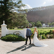 bride & groom, bride and groom, bride and groom, winelands - Rickety Bridge