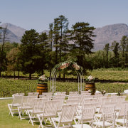 outdoor ceremony, outside ceremony, winelands - Rickety Bridge