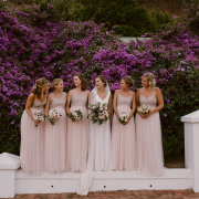 bride and bridemaids - Rickety Bridge