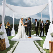 outdoor ceremony, outside ceremony, wedding ceremony - Rickety Bridge
