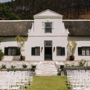 outdoor ceremony, winelands - Rickety Bridge