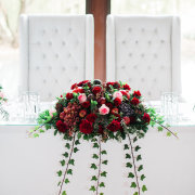floral centrepiece, main table - Heavens Gate Venue
