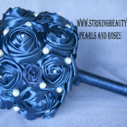 brooch bouquet, blue