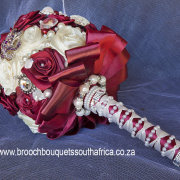 bouquet, brooch, red
