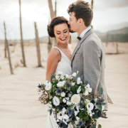 bouquets, bride and groom, bride and groom - Evelyn Francis