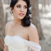 hair, makeup, wedding dress - Evelyn Francis
