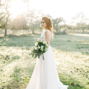 bouquet, hair, wedding dress - Evelyn Francis