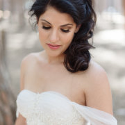 makeup, hair, wedding dress - Evelyn Francis