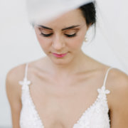 makeup, wedding dress - Evelyn Francis