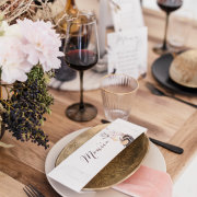 table settings, wedding stationery - The Allora Collection