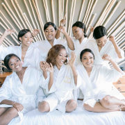 bride and bridesmaids, getting ready, getting ready gowns - Palala Boutique Game Lodge & Spa