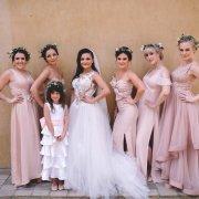 bride and bridesmaids, bridesmaids dresses, bridesmaids dresses, flower crowns - Kelly Jean Hair & Makeup
