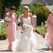 bouquet, wedding dress, bridesmaids dresses