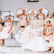 bride and bridesmaids - It Comes Naturally