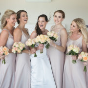 bouquets, bride and bridesmaids - Belinda Hougaard - Hair Therapy