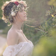 bride, flower crown - Belinda Hougaard - Hair Therapy