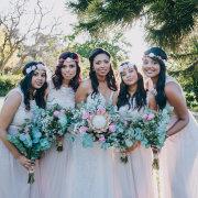 bridesmaids dress, flowers, protea - Fabulous Fynbos