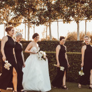 bride and bridesmaids - Strawberry Weddings and Events