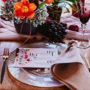 floral decor, table settings - Strawberry Weddings and Events