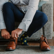 grooms shoes, socks - Strawberry Weddings and Events