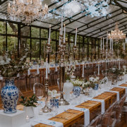 candles, chandeliers, wedding decor, wedding venue - Strawberry Weddings and Events