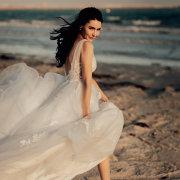 beach, bride