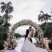 floral arches, kiss, kiss, kiss