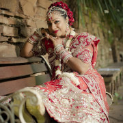 botanic gardens durban, indian bride, indian wedding, wedding gown
