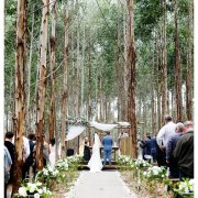 bride and groom, bride and groom, forest, outside ceremony