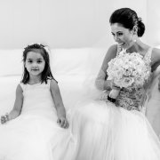 bouquet, bride, flower girl