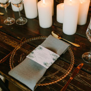 candles, table setting