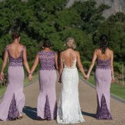 bride and bridesmaids, bridesmaids dresses, bridesmaids dresses, purple, wedding dresses, wedding dresses