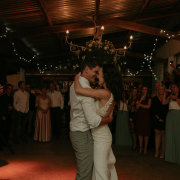 first dance, barn, fairy lights