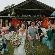 bouquets, bride and groom, bride and groom, confetti, wedding confetti