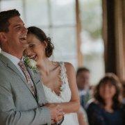 ceremony, happy bride, laughter