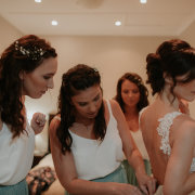 brides maids, getting ready
