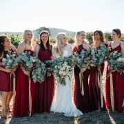 bridesmaids dresses, red
