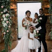 bride and groom, bride and groom, bride and groom, floral decor, flower girls