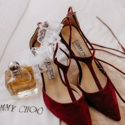 bridal shoes, red