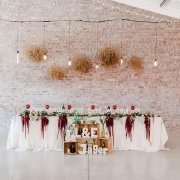 hanging decor, main table, naked bulbs, table decor, table decor, table decor