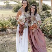 bouquets, bride and bridesmaids