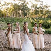 bridesmaids, wedding dress, winelands