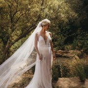 forest, veil, wedding dress, wedding dress