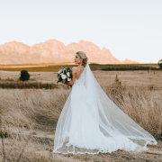 bride, countryside, veil
